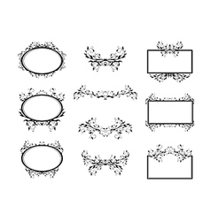 Swirl Monograms Border vector