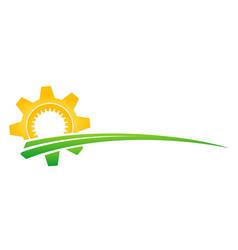 Symbol sun in field vector