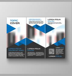 tri-fold business brochure template design vector image