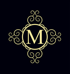 Vintage ornamental monogram vector