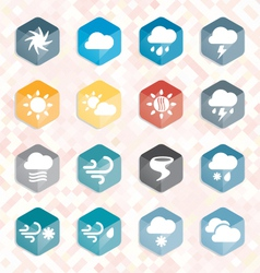 Weather Web Icons and Buttons vector image vector image
