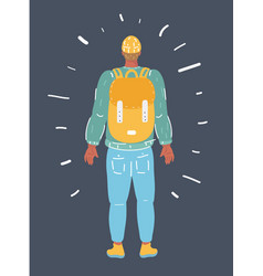 young guy with backpack vector image