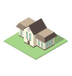 isometric school flat design vector image
