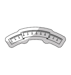 tape measure isolated icon vector image vector image