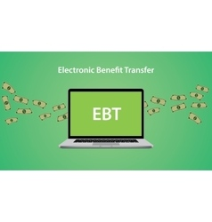Ebt - electronic benefit transfer allows to issue vector