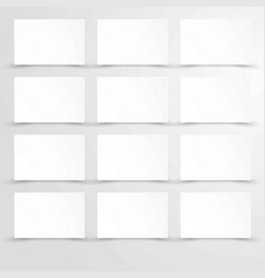 empty blank paper with white rectangle posters vector image