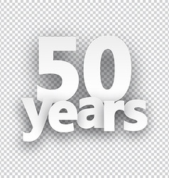 Fifty years paper sign vector image vector image