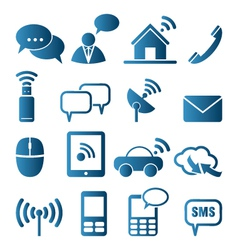 Icon set of communication vector image vector image