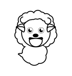 Sheep animal toy outline vector
