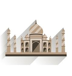 Taj Mahal flat style with long shadow vector image vector image