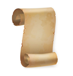 Vertical vintage paper roll or parchment scroll vector image vector image