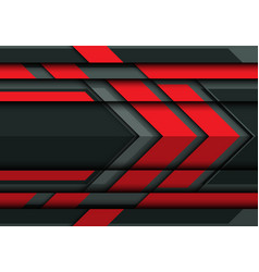 abstract red arrow on gray metal 3d vector image vector image