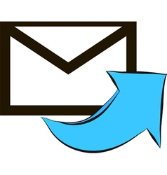 email text message design over white vector image