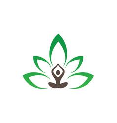 meditation or spa leaf logo image vector image vector image