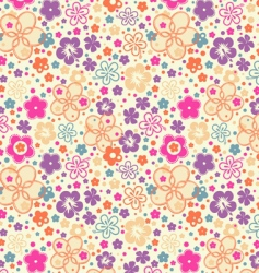 ditsy summer floral vector image vector image