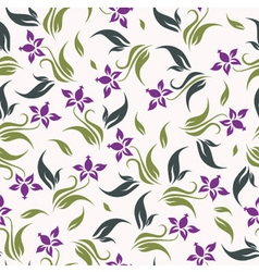floral background seamless vector image