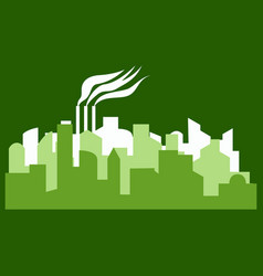 - the silhouette of the city in a flat style vector