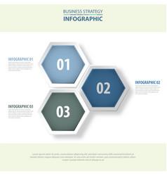 3 modern and clean hexagon design elements vector
