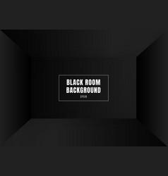 3d empty black room modern blank interior vector
