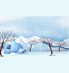 A white winter landscape vector