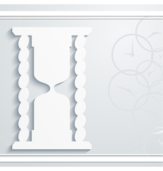 Abstract background with hourglass vector image vector image