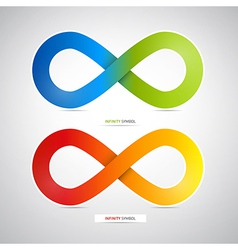 Abstract Colorful infinity symbols vector