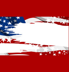 abstract usa flag paintbrush banner background vector image