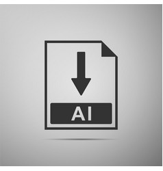 ai file document icon download ai button icon vector image