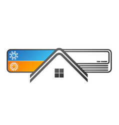 Air conditioning silhouette house vector