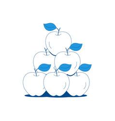 Apples flat vector
