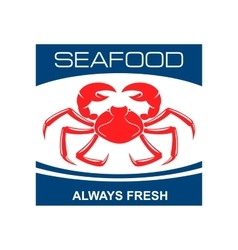 Atlantic snow crab icon for seafood bar design vector