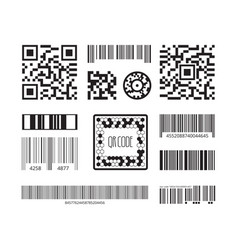 barcode symbols coding products sticker qr vector image
