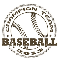 Baseball label vector