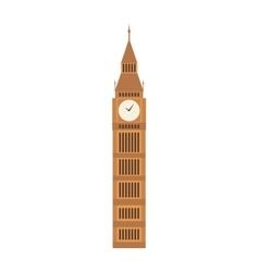 Big ben clock symbol london vector
