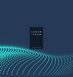 Blue particles technology background design vector