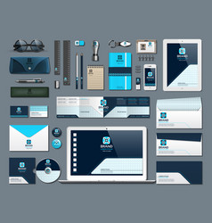 business corporate identity items set vector image