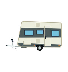 Camper trailer vacation travel outdoor image vector
