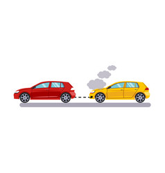 car and transportation towing cars vector image