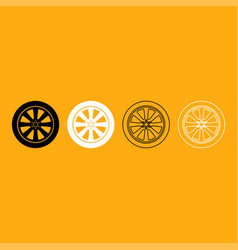 car wheel it is white icon vector image