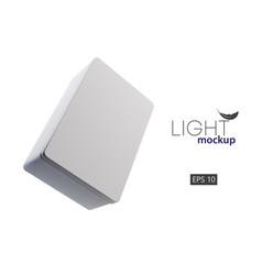 cardboard 3d boxes mockups vector image