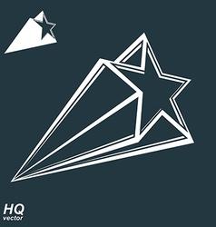 Celestial object pentagonal comet star inc vector