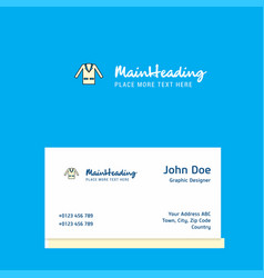 coat logo design with business card template vector image