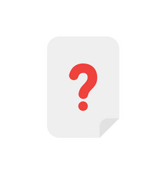 concept of paper with question mark icon on white vector image