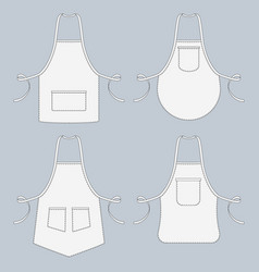 Cook uniform restaurant apron template vector
