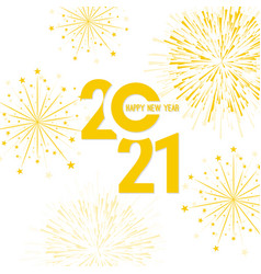 creative happy new year 2021 vector image