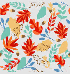 cute sweet autumn leave seamless pattern vector image