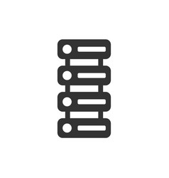 data center icon in flat style server on white vector image