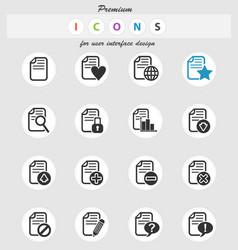 document icon set vector image