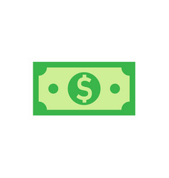 dollar currency banknote icon in flat style vector image