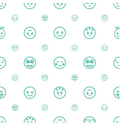 Emotion icons pattern seamless white background vector